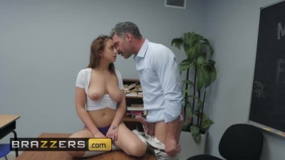 Busty schoolgirl Naughty Trade for a Good Grade - BRAZZERS