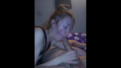 TEEN Roommate Sucks on Huge Cock and Takes Facial