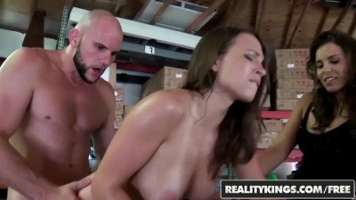Gets Fucked in The Backroom While Her Friend